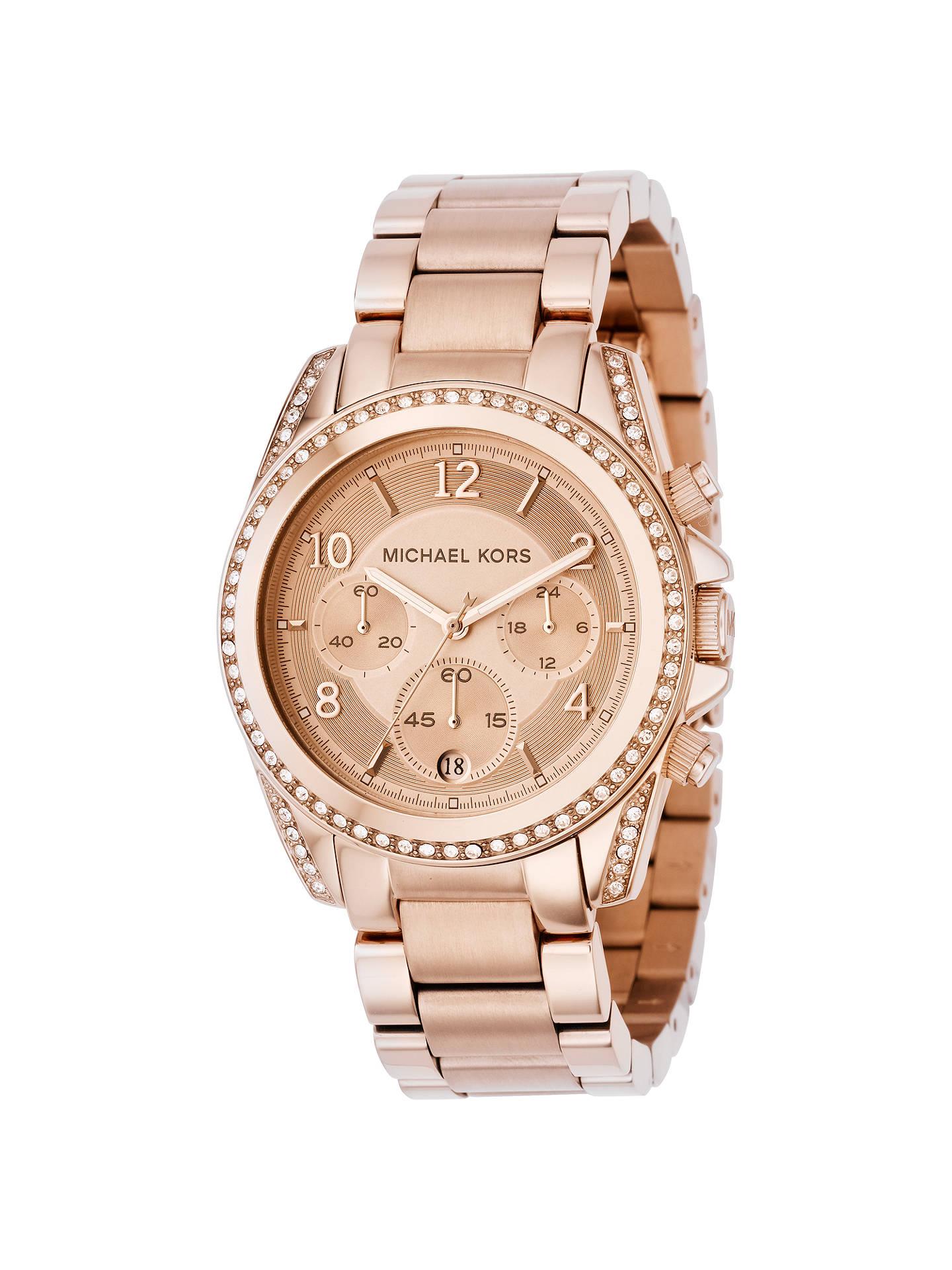 44aa0e06a979 Buy Michael Kors MK5263 Women s Blair Chronograph Stainless Steel Bracelet  Strap Watch