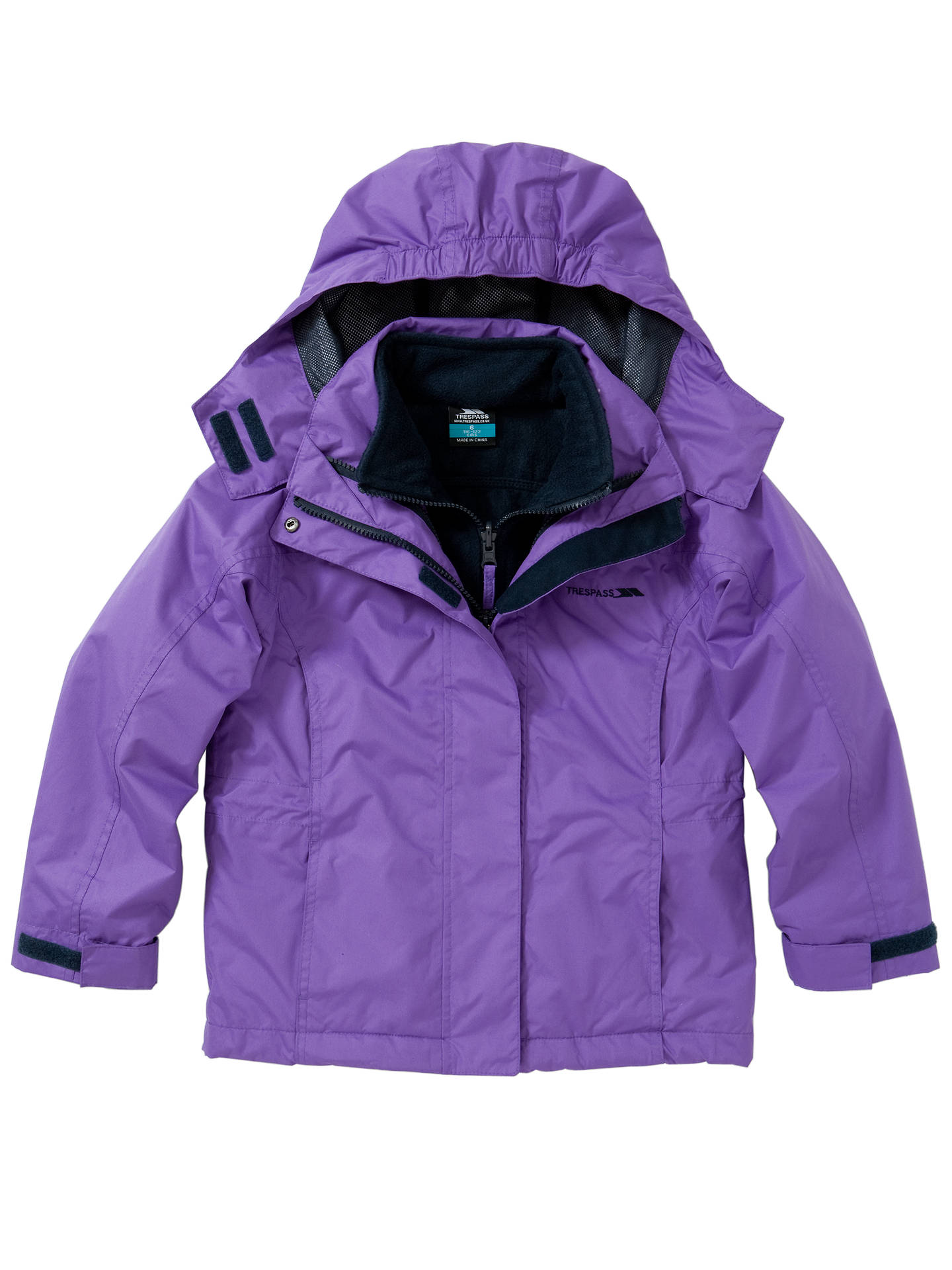 complete in specifications search for best fast color Trespass Girls' Acrasa 3 in 1 Jacket, Purple