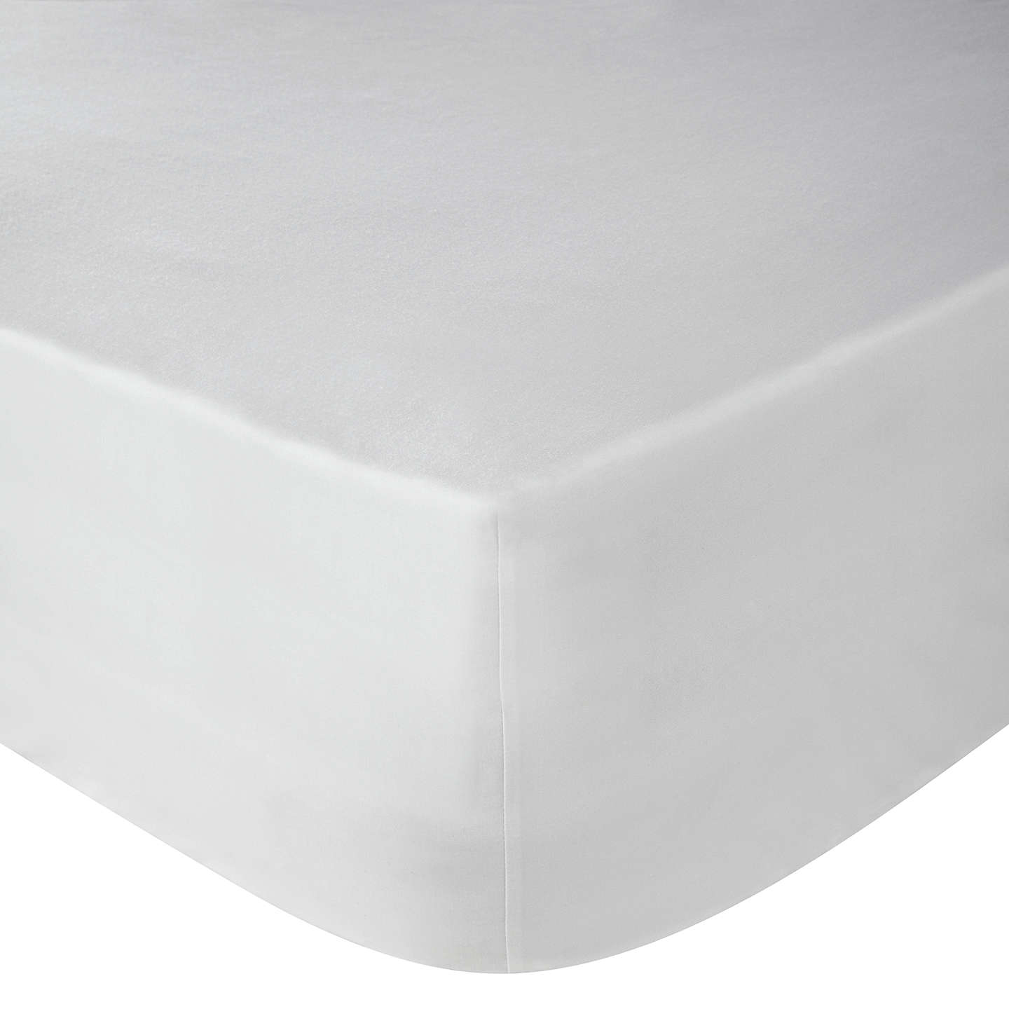BuyJohn Lewis Perfectly Smooth 200 Thread Count Egyptian Cotton Fitted Sheet,  White, Small Single ...