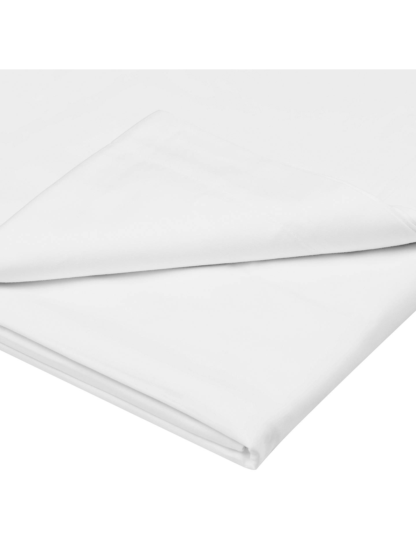 BuyJohn Lewis & Partners Crisp and Fresh 200 Thread Count Egyptian Cotton Flat Sheet, Single, White Online at johnlewis.com