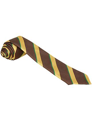 Jordanhill School Primary/Junior School Unisex Tie, Brown/Gold