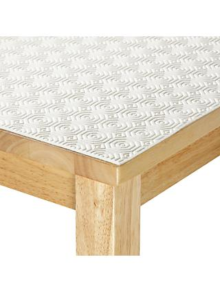 John Lewis & Partners Table Protector, White, 140cm
