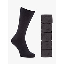 Buy John Lewis Cotton Rich Socks, Pack of 5 Online at johnlewis.com