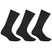 Buy John Lewis Pure Mercerised Cotton Socks, Pack of 3 Online at johnlewis.com