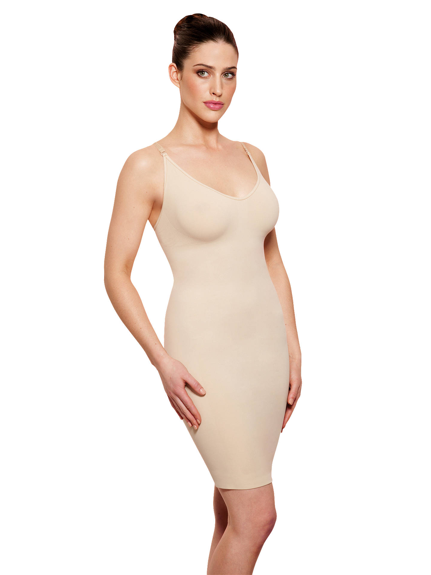 BuyJohn Lewis & Partners Seamfree Control Full Slip, Nude, 8 Online at johnlewis.com