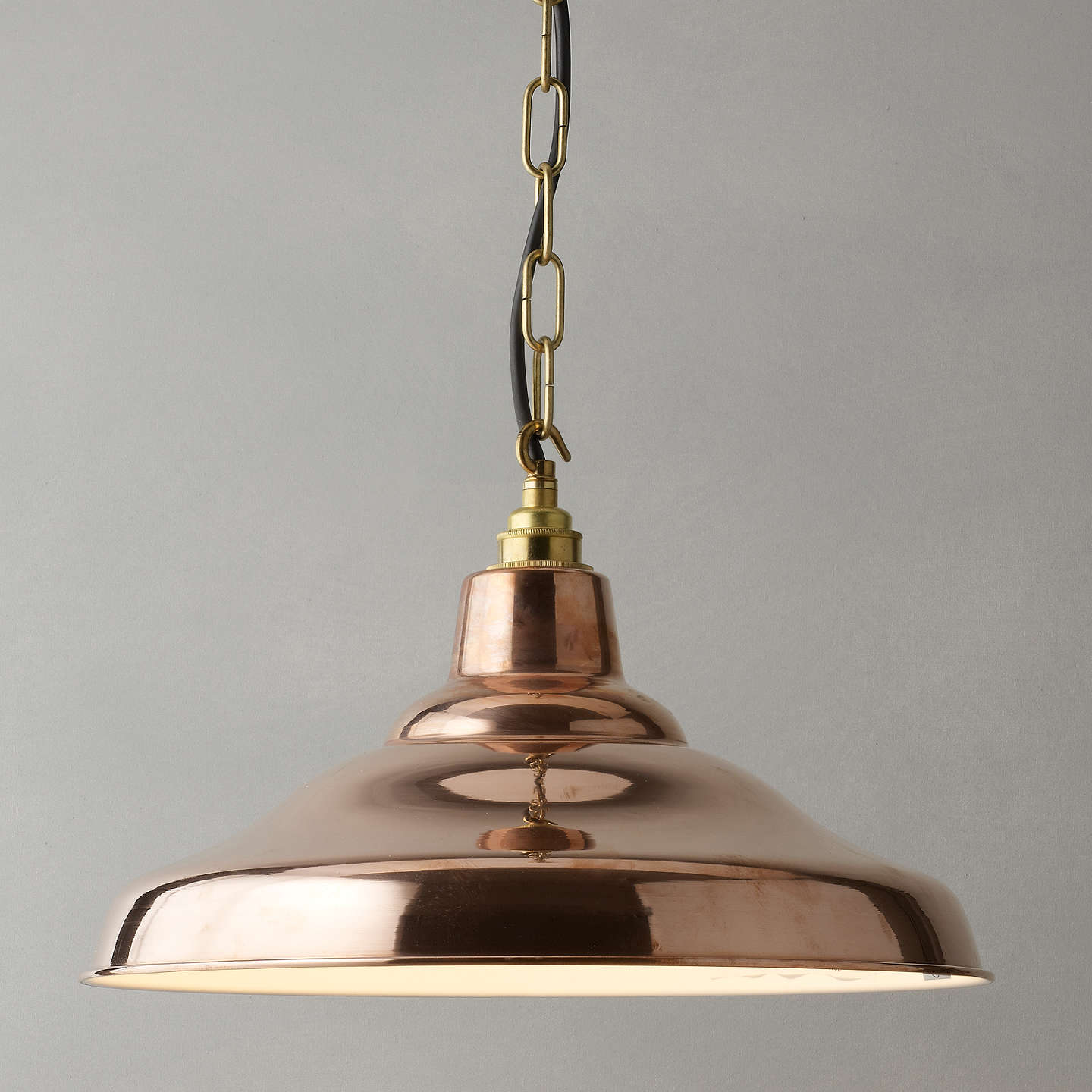 Davey Lighting Factory Ceiling Light, Copper At John Lewis