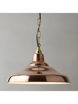 Davey Lighting Factory Ceiling Light, Copper
