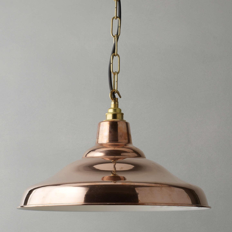 Davey Lighting Factory Ceiling Light, Copper At John Lewis