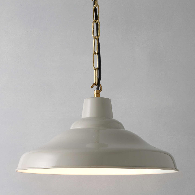 Kitchen Light Fittings John Lewis: Davey Lighting Factory Ceiling Light, Putty At John Lewis