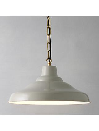 Davey Lighting Factory Ceiling Light, Putty
