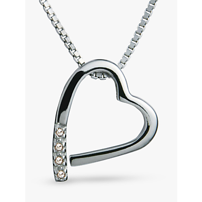 Image of Hot Diamonds Open Heart Memories Pendant Necklace