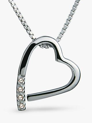 Hot Diamonds Open Heart Memories Pendant Necklace