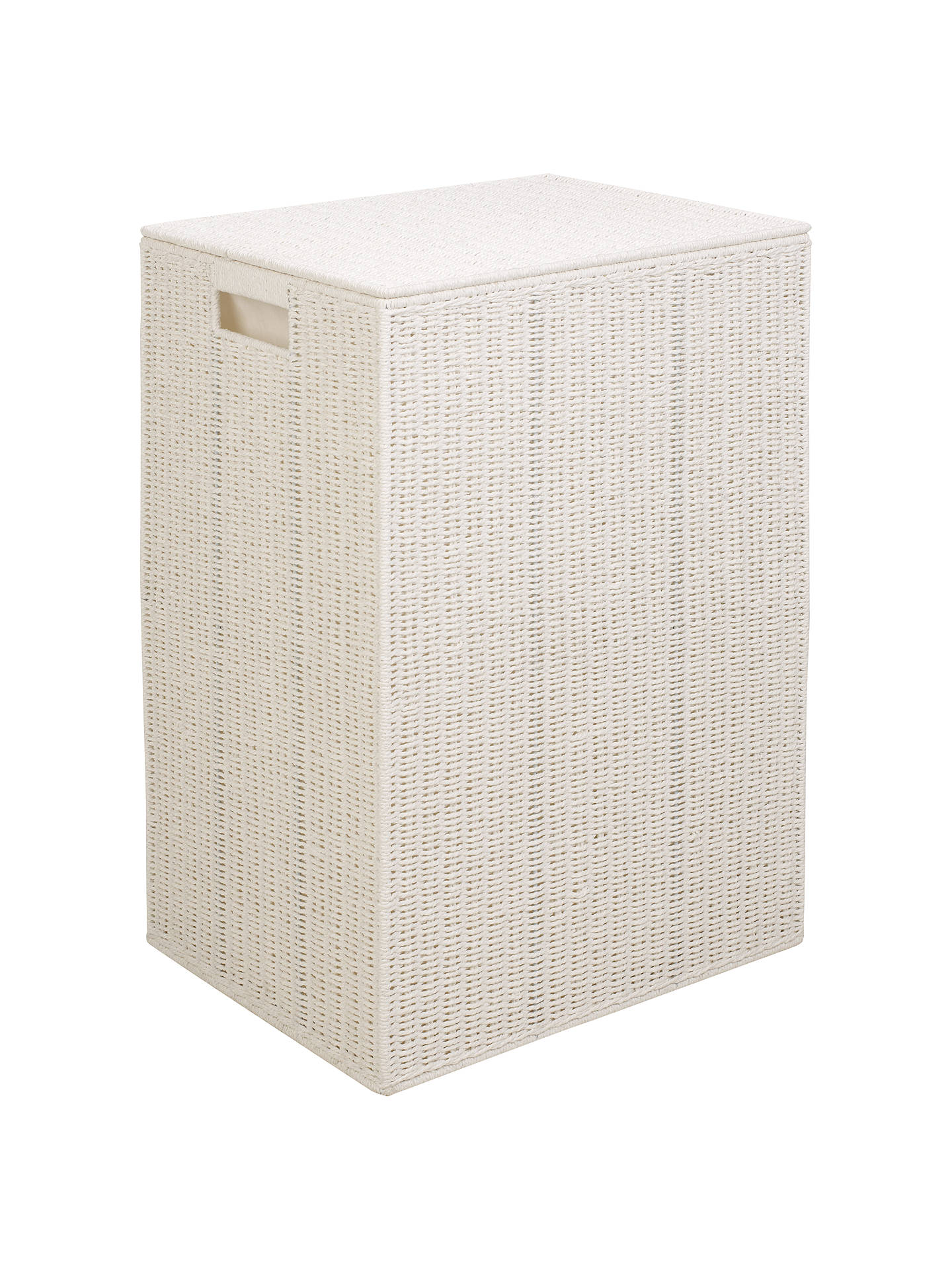 Buy John Lewis & Partners & Partners Rope Double Laundry Bin, White Online at johnlewis.com