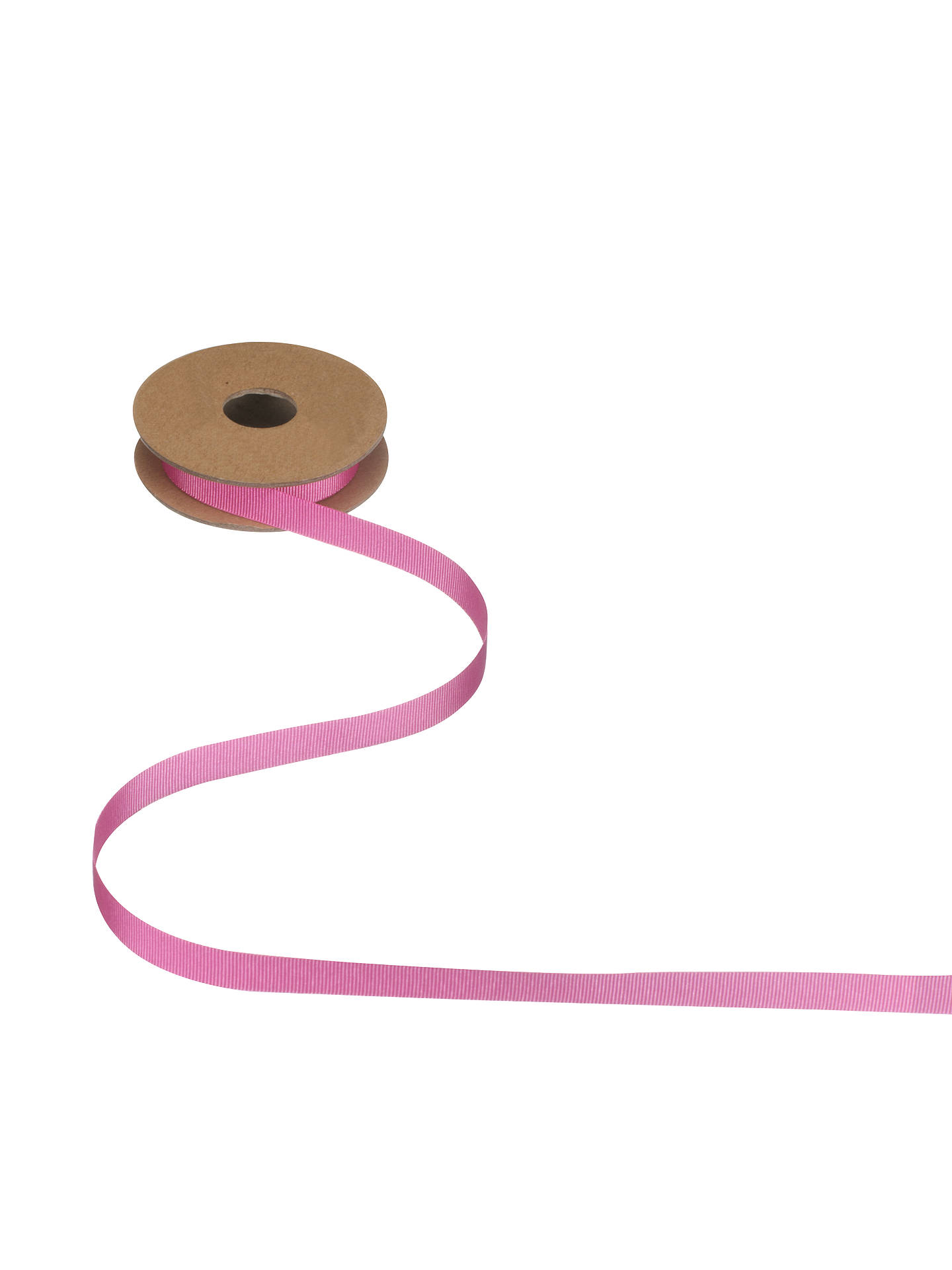 Buy John Lewis Grosgrain Ribbon, 5m, Fuchsia, 10mm Online at johnlewis.com