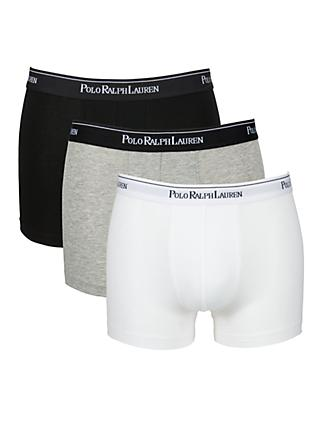 Polo Ralph Lauren Cotton Trunks, Pack of 3