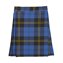 Buy Girls' School Tartan Junior Kilt, Blue/Multi Online at johnlewis.com