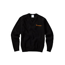 Buy Calderstones School Boys' Pullover, Black Online at johnlewis.com