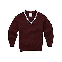 Buy Christian Fellowship School Boys' Pullover, Maroon/Blue Online at johnlewis.com