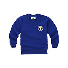 Buy Halewood Church of England School Boys' V-Neck Sweatshirt, Blue Online at johnlewis.com