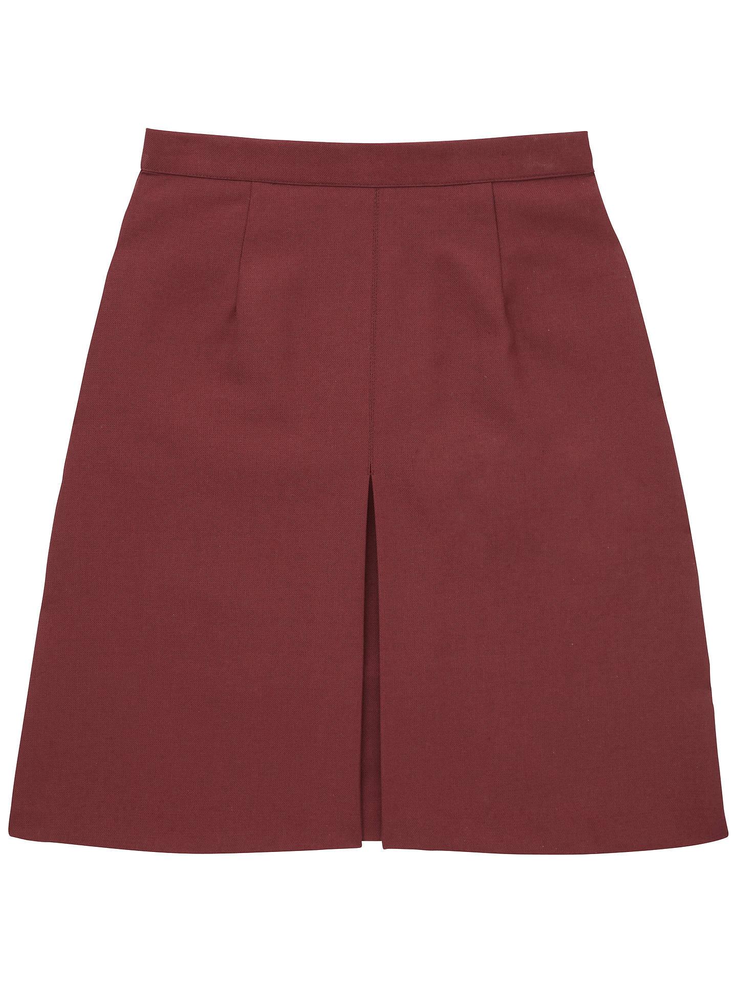 84cefe8ae Girls' School Inverted Pleat Skirt, Maroon at John Lewis & Partners