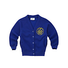 Buy Longmoor Community Primary School Girls' Cardigan, Royal Blue Online at johnlewis.com