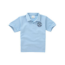 Buy Melling Primary School Unisex Polo Shirt, Sky Blue Online at johnlewis.com