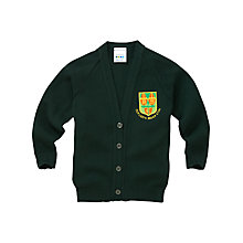 Buy Our Lady's Bishop Eton Primary School Girls' Cardigan, Bottle Green Online at johnlewis.com