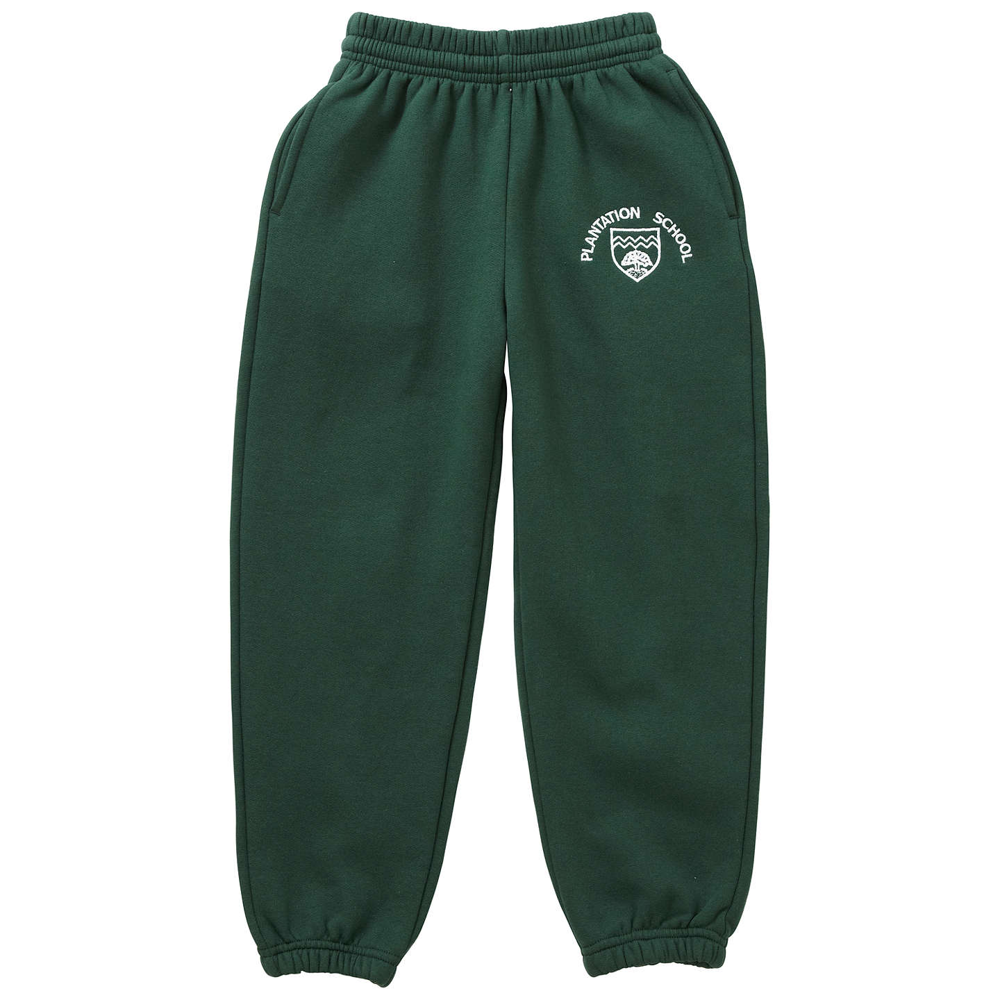 BuyPlantation County Primary School Unisex Jogging Bottoms, Green, Age 3/4 Online at johnlewis.com