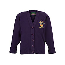 Buy St John Fisher Catholic Primary School Girls' Cardigan, Purple Online at johnlewis.com