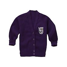 Buy St Joseph The Worker Catholic Primary School Girls' Cardigan, Purple Online at johnlewis.com