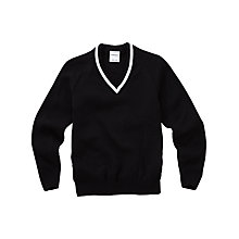 Buy St Margaret's Church of England High School Boys' Pullover, Black/White Online at johnlewis.com