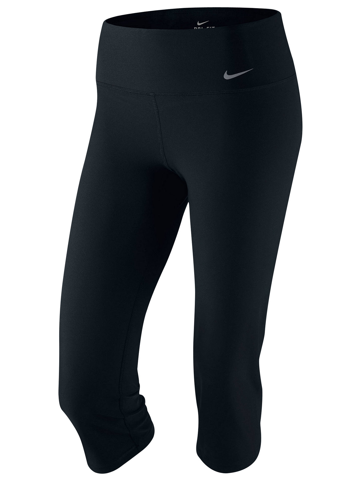 Buy Nike Legend Slim Capri Tights, Black, S Online at johnlewis.com