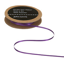 Buy John Lewis Double Satin Ribbon, 5m, Violet Online at johnlewis.com