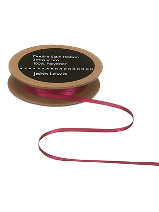 John Lewis & Partners Double Satin Ribbon, 5m