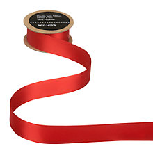 Buy John Lewis Double Satin Ribbon, 5m, Red Online at johnlewis.com