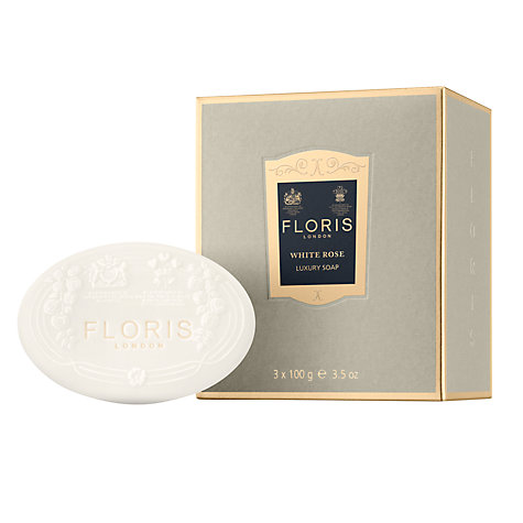 Buy Floris White Rose Luxury Soap Set, 3 x 100g Online at johnlewis.com