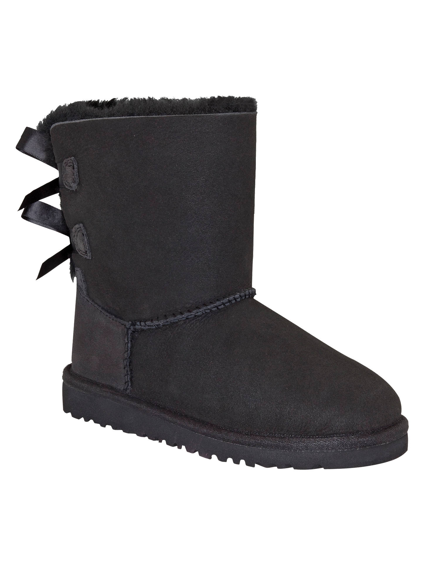 ugg children s bailey bow boots black at john lewis partners rh johnlewis com
