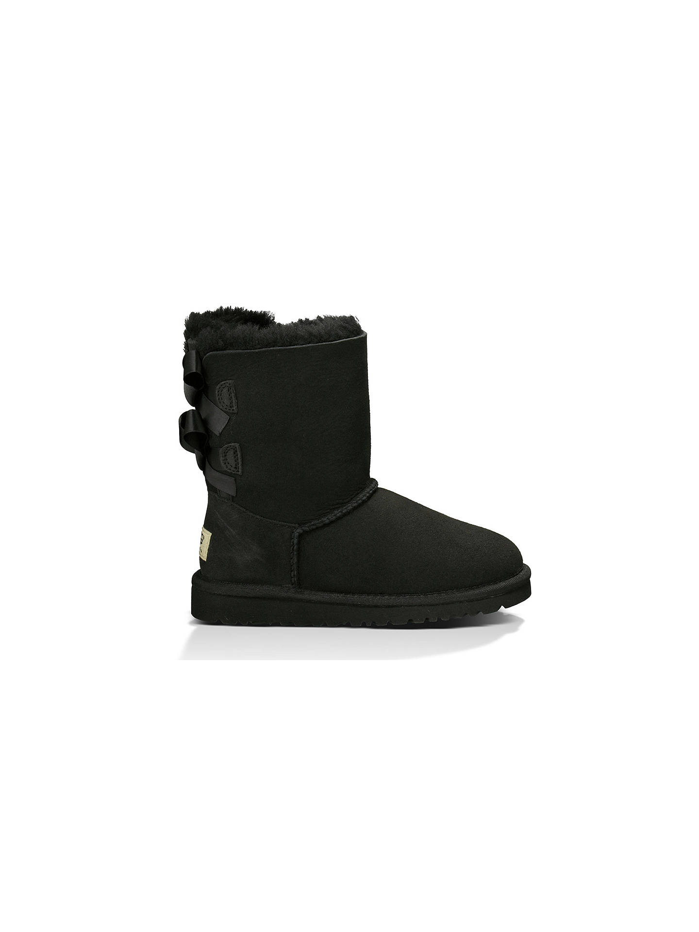 02a504130c2 UGG Children's Bailey Bow Boots, Black at John Lewis & Partners