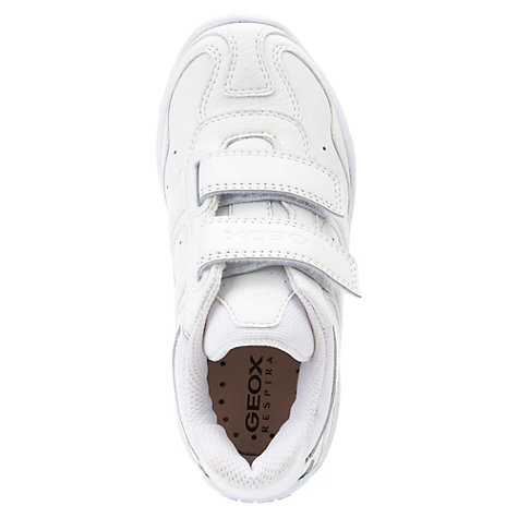 Buy Geox Crush Trainers, White Online at johnlewis.com