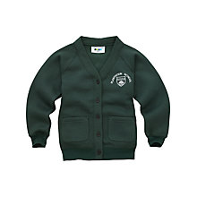 Buy Plantation County Primary School Girls' Cardigan, Green Online at johnlewis.com