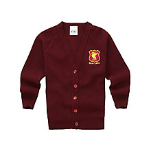 Buy Rice Lane Junior School Girls' Cardigan, Maroon Online at johnlewis.com