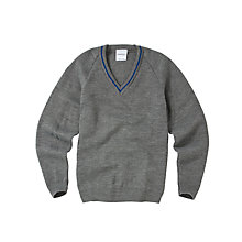 Buy King David High School Unisex Pullover, Grey/Blue Online at johnlewis.com