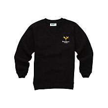 Buy Bucksburn Academy Unisex V-Neck Sweatshirt, Black Online at johnlewis.com