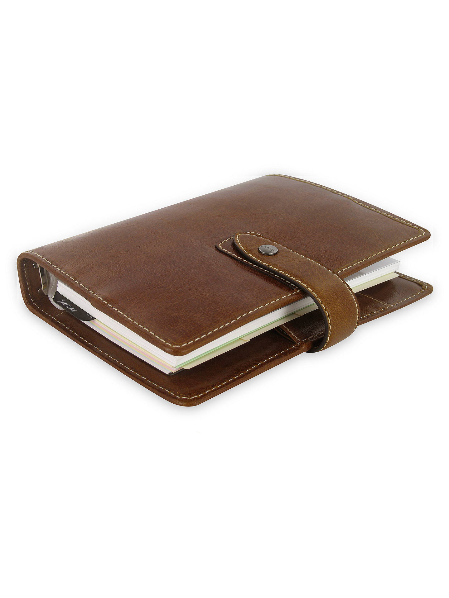 Buy Filofax Leather Malden Personal Organiser, Ochre Online at johnlewis.com