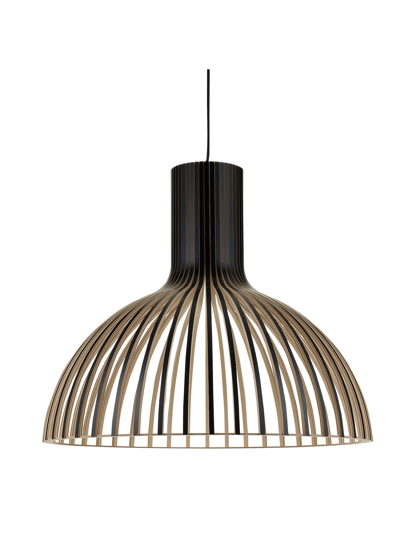 BuySecto Victo Ceiling Light, Black Online at johnlewis.com