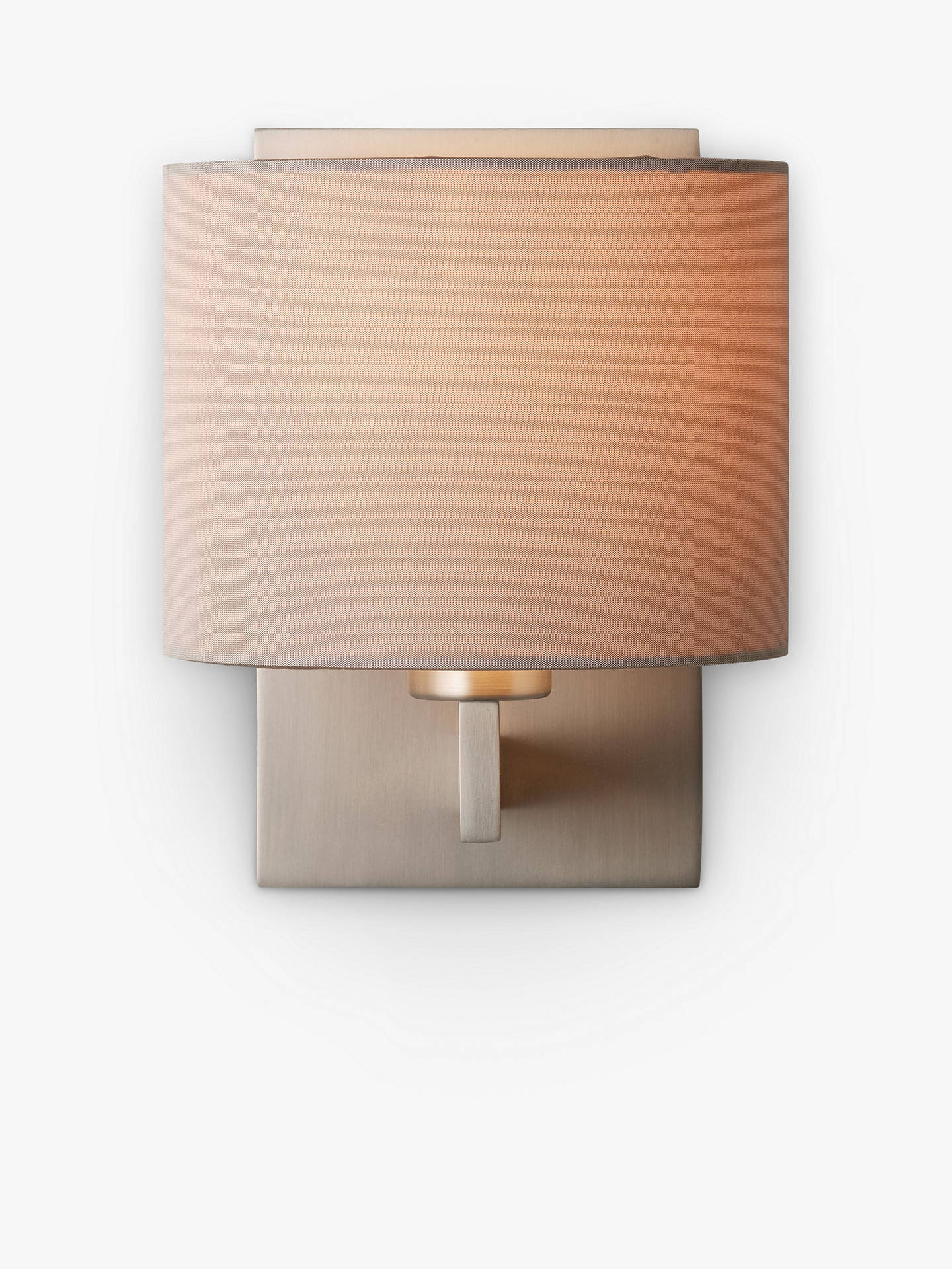 Astro olan wall light with silk shade nickeloyster at john lewis buyastro olan wall light with silk shade nickeloyster online at johnlewis aloadofball Image collections
