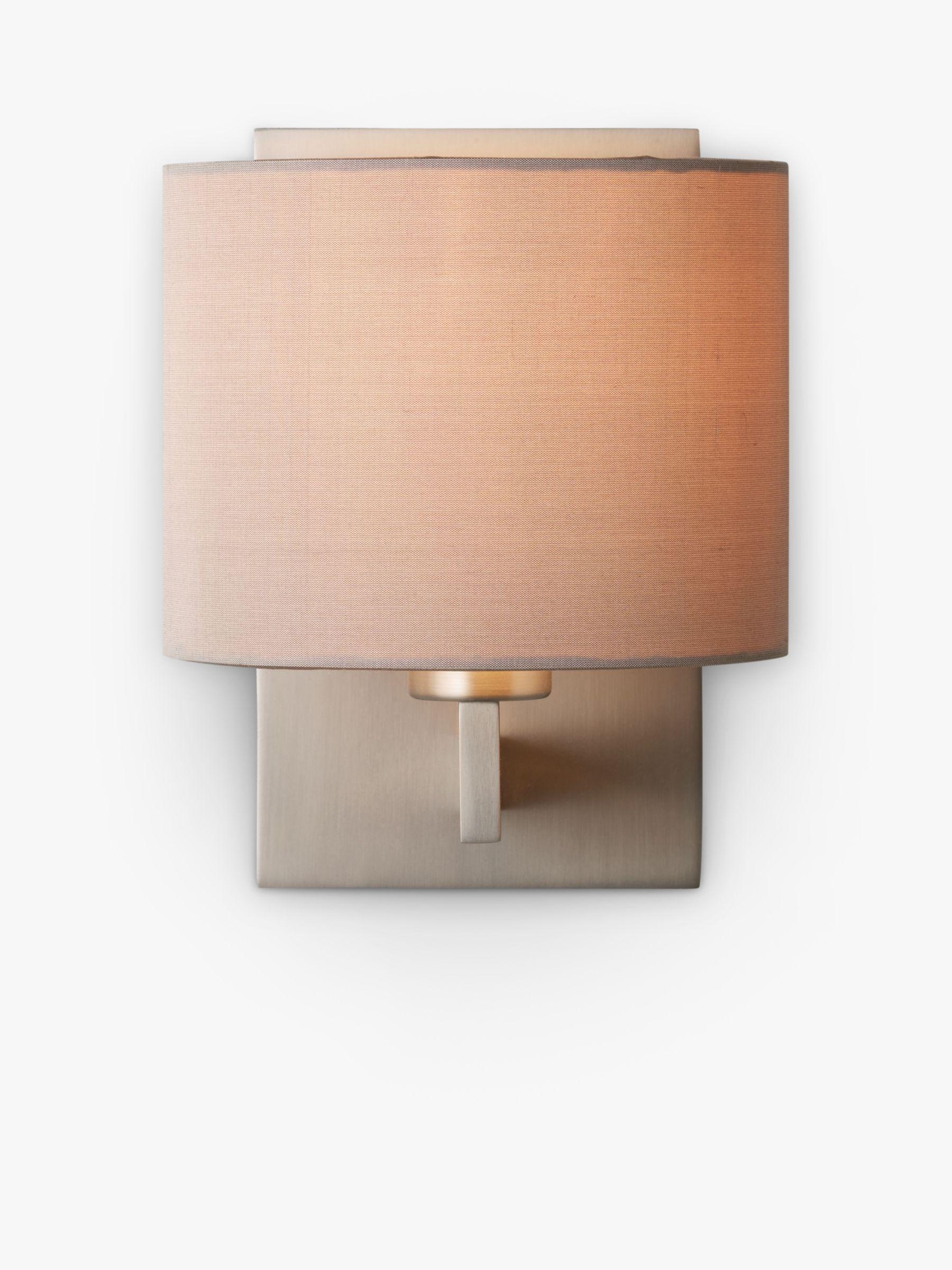 ASTRO Astro Olan Wall Light with Silk Shade, Nickel/Oyster