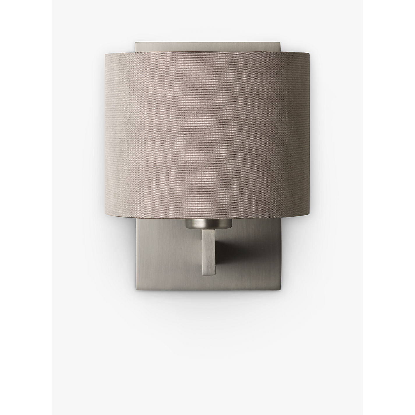 Buy ASTRO Olan Wall Light with Silk Shade, Nickel/Oyster Online at  johnlewis.