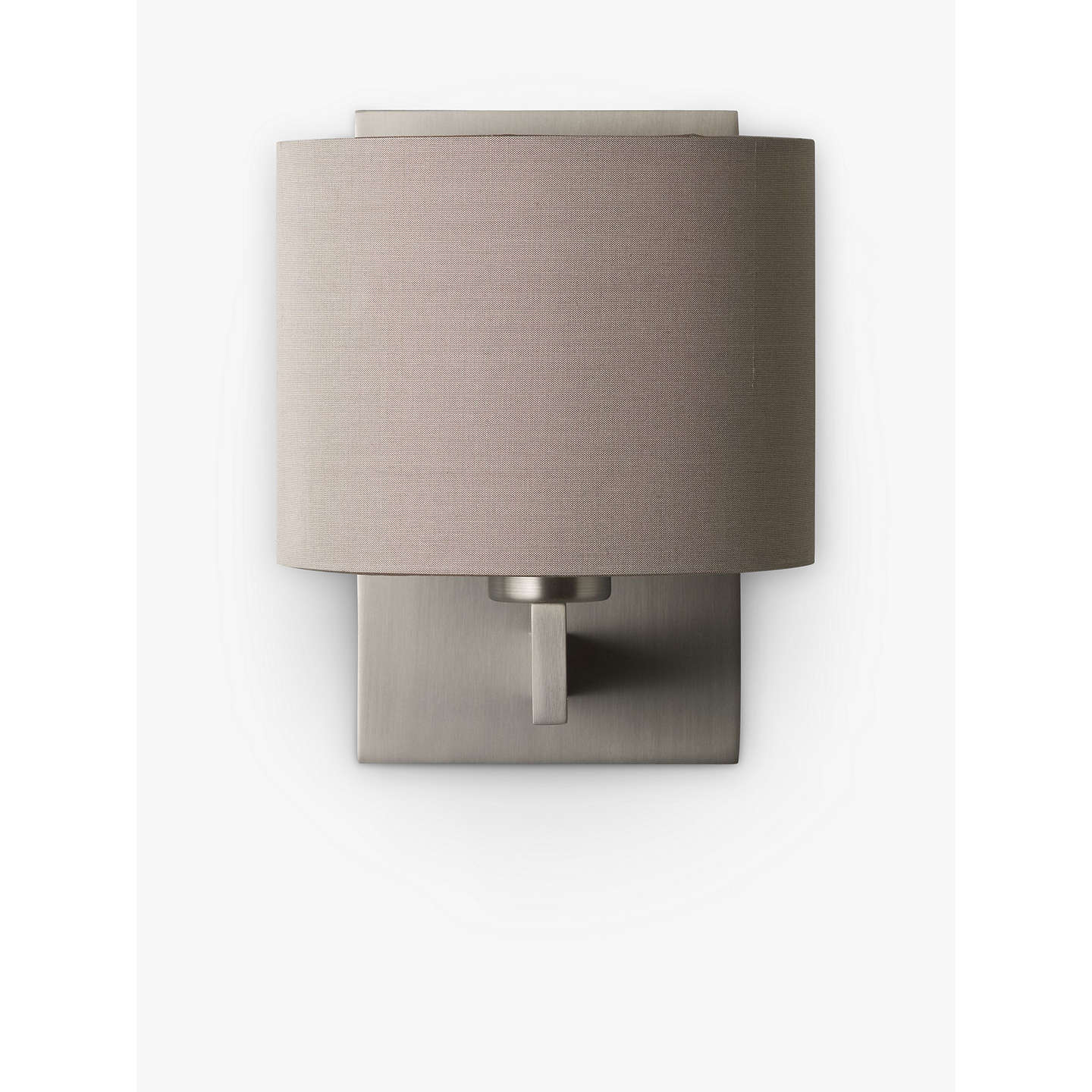 Astro olan wall light with silk shade nickeloyster at john lewis buyastro olan wall light with silk shade nickeloyster online at johnlewis aloadofball Choice Image