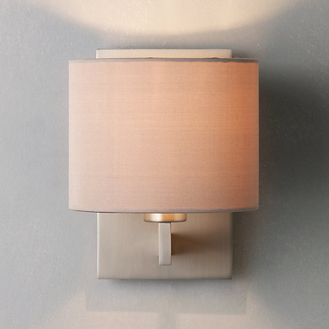 Buy ASTRO Olan Wall Light with Silk Shade, Nickel/Oyster Online at johnlewis.com